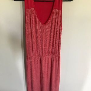 Deletta anthropology brand coral dress Sz XS